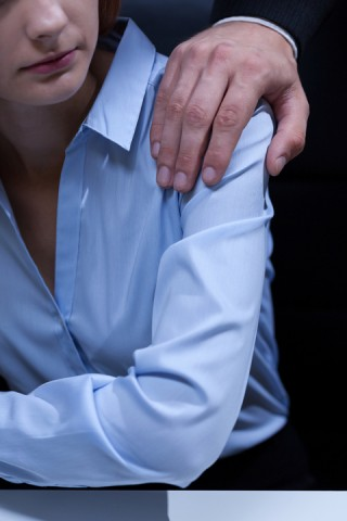 Repeated, unwanted touching can lead to charges of sexual harassment at work.